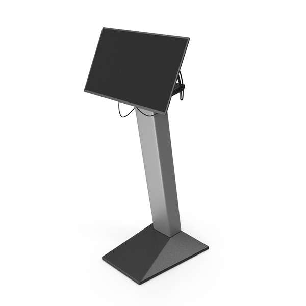 Electronic Kiosk: Security Scanner Monitor PNG & PSD Images