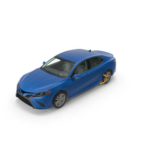 Car: Sedan with Wheel Lock Clamp PNG & PSD Images