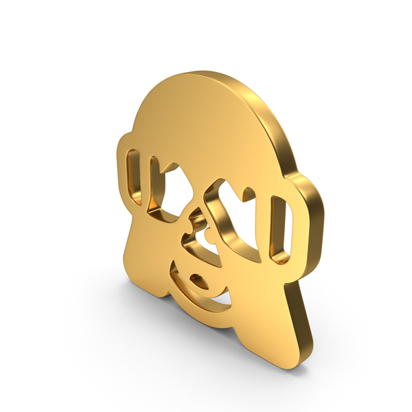 Statue: See No Evil Monkey Logo Icon PNG & PSD Images