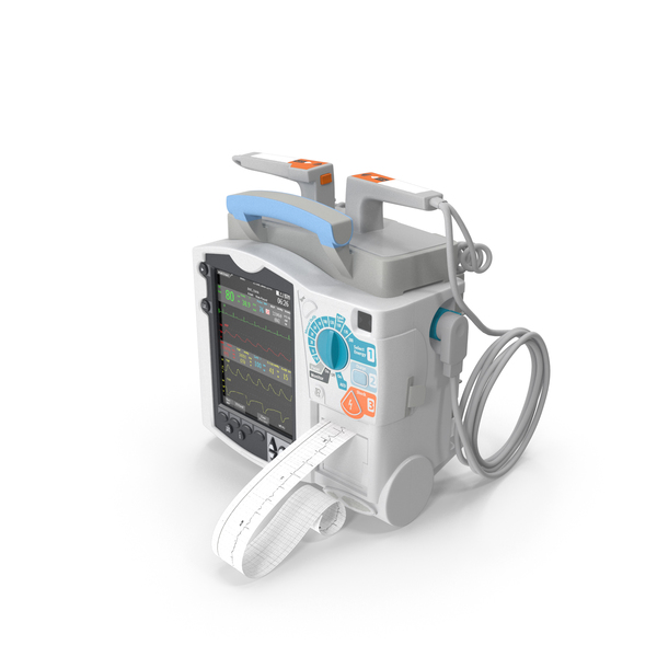 Semi Automatic External Defibrillator with Monitor PNG & PSD Images