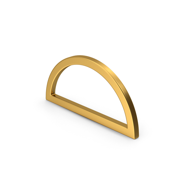 Computer Icon: Semicircle Gold PNG & PSD Images