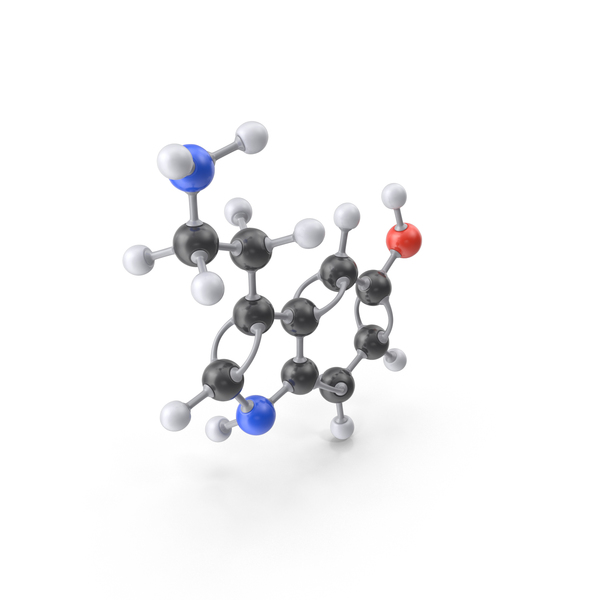 Serotonin Molecule PNG & PSD Images