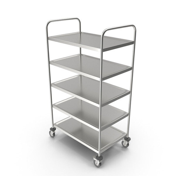 Rack: Serving Trolley with Tray PNG & PSD Images