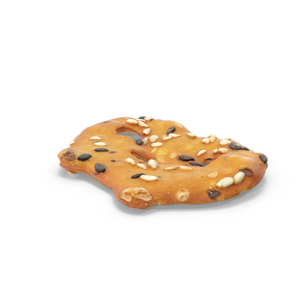 Sesame Pretzel Thin Cracker PNG & PSD Images