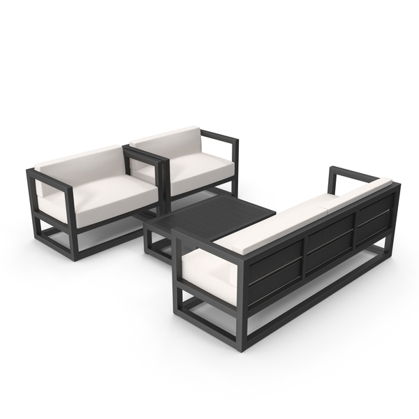Set of Outdoor Sofas and Table PNG & PSD Images