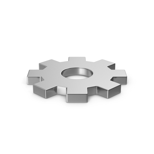 Computer: Settings Icon Silver PNG & PSD Images