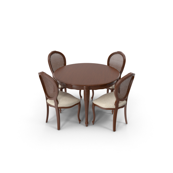 Seven Sedie Dining table & Chair Set PNG & PSD Images