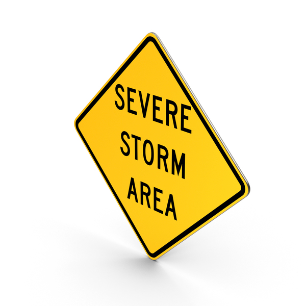 Severe Storm Area Idaho Road Sign PNG & PSD Images