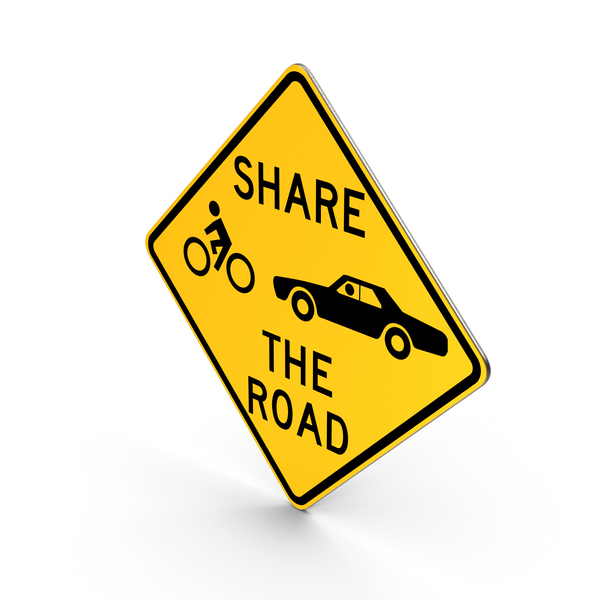 Traffic Signs: Share The Road Pennsylvania Road Sign PNG & PSD Images
