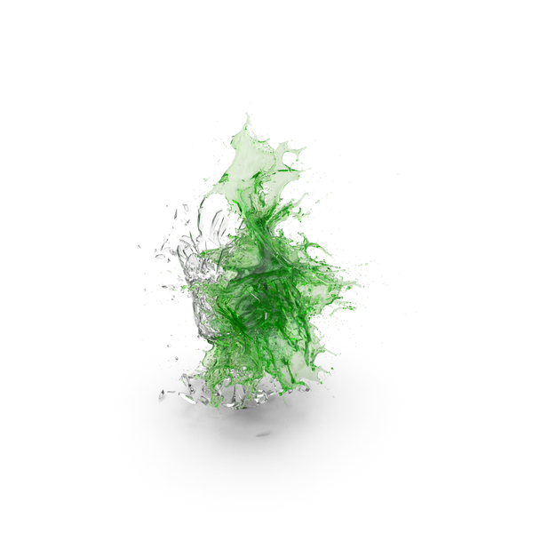 Shattered Glass with Green Water PNG & PSD Images