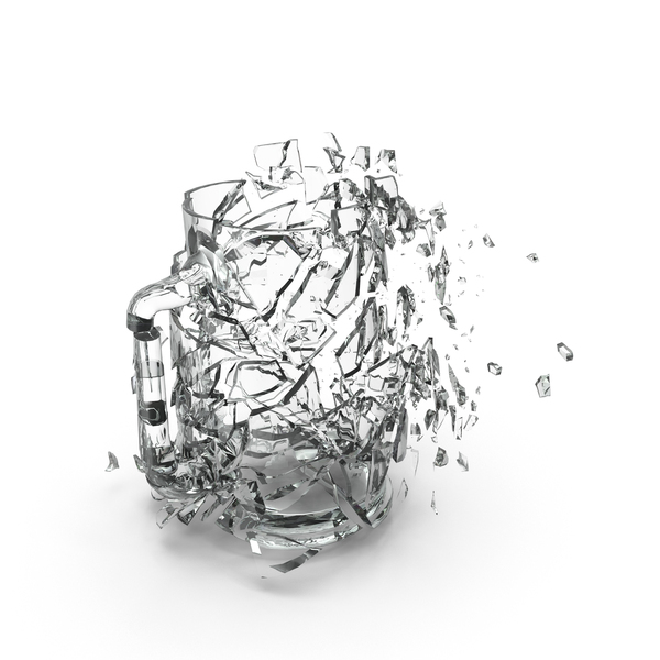 Shattered Pint Glass PNG & PSD Images