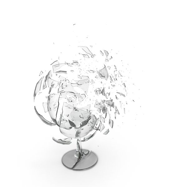 Shattered Wine Glass Object