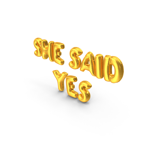 She Said Yes Balloons PNG & PSD Images