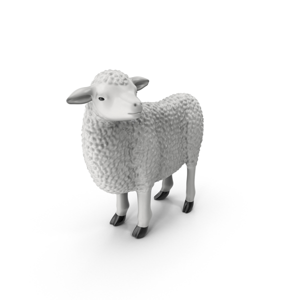 Animal: Sheep Figurine PNG & PSD Images