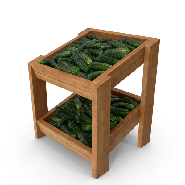 Shelf With Kirby Cucumbers PNG & PSD Images