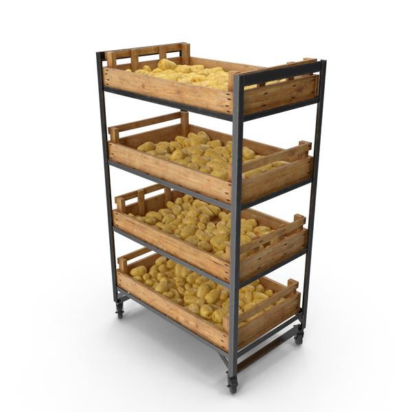 Potato: Shelf With Potatoes PNG & PSD Images