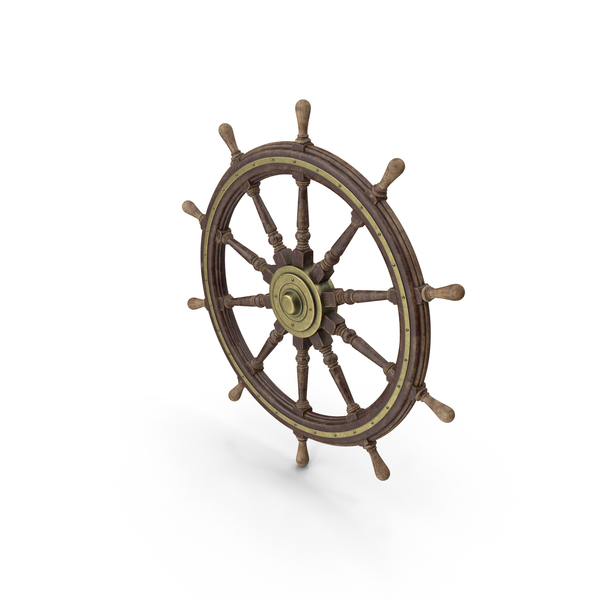 Vessel: Ship's Steering Wheel PNG & PSD Images