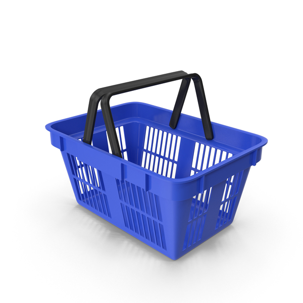 Shoping Basket Blue PNG & PSD Images