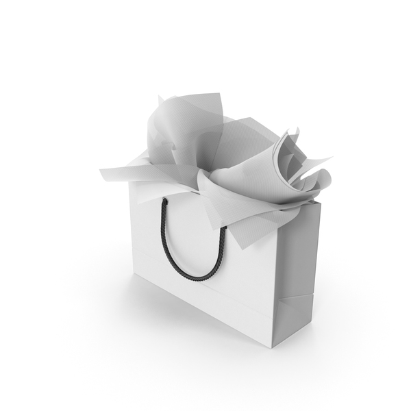 Shopping Bag with White Gift Paper PNG & PSD Images