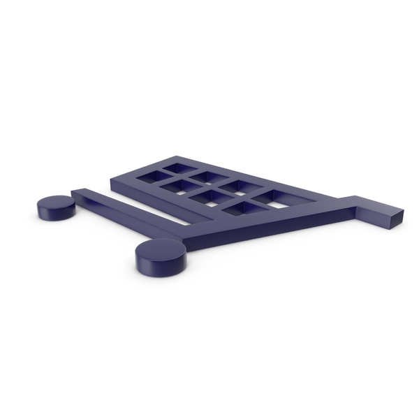 Shopping Cart Dark Blue Symbol PNG & PSD Images