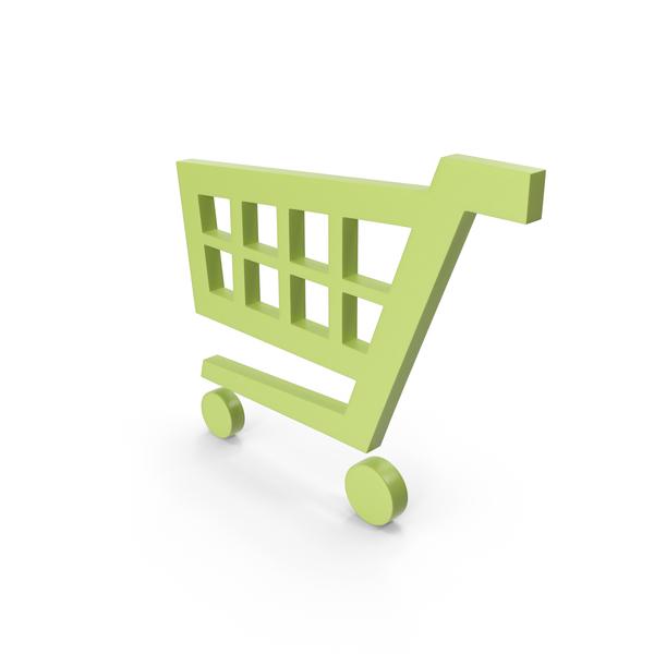 Shopping Cart Green Symbol PNG & PSD Images