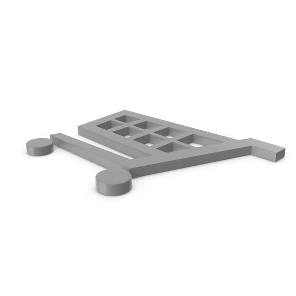 Shopping Cart Grey Symbol PNG & PSD Images