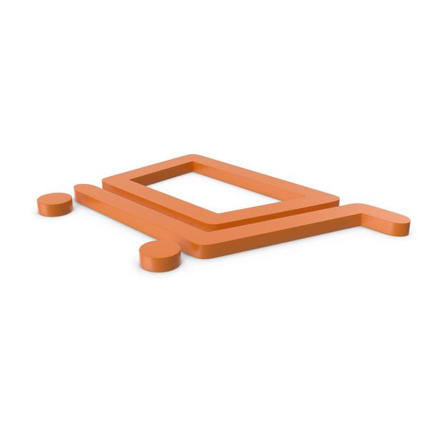 Shopping Cart Orange Symbol PNG & PSD Images