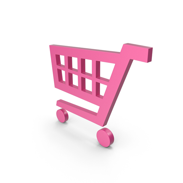 Shopping Cart Pink Symbol PNG & PSD Images