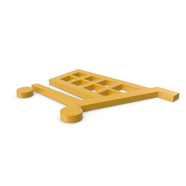 Shopping Cart Yellow Symbol PNG & PSD Images