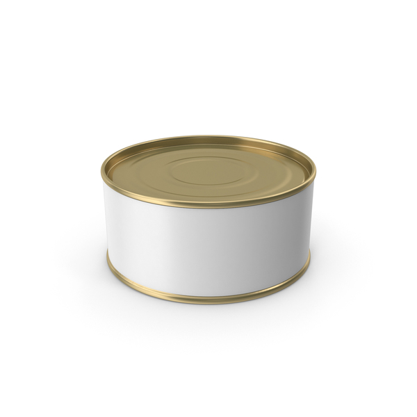 Tin: Short Gold Food Can PNG & PSD Images