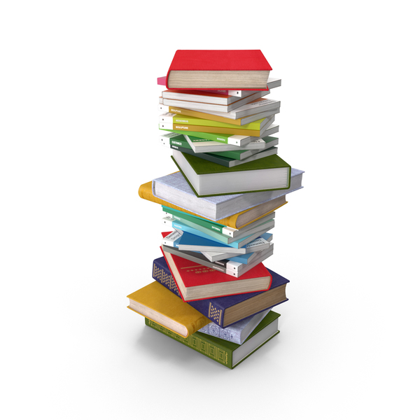 Book: Short Stack of Books PNG & PSD Images