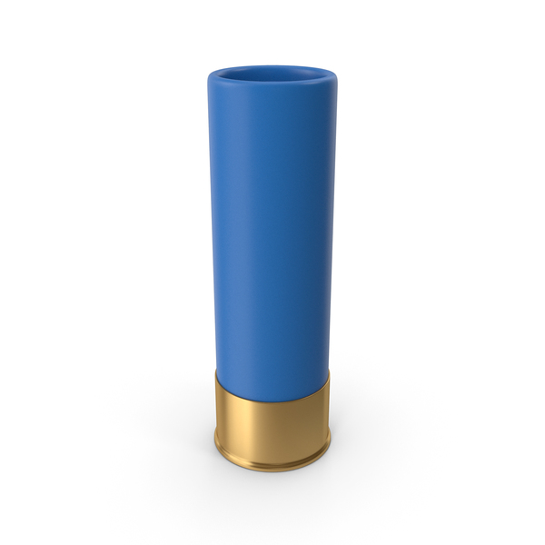 Shotgun Cartridge Blue PNG & PSD Images
