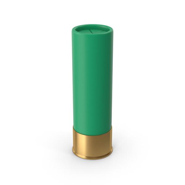 Shotgun Cartridge Green PNG & PSD Images