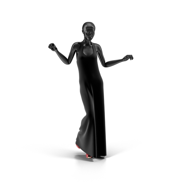 Showroom Mannequin With Long Dress PNG & PSD Images