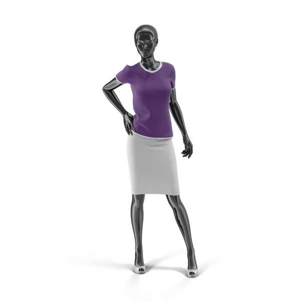 Showroom Mannequin With Skirt And Blouse PNG & PSD Images