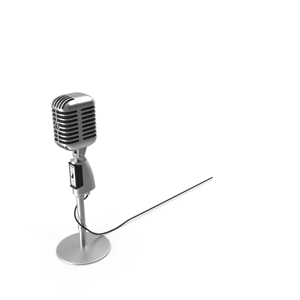Retro: Shure Microphone 55SH PNG & PSD Images