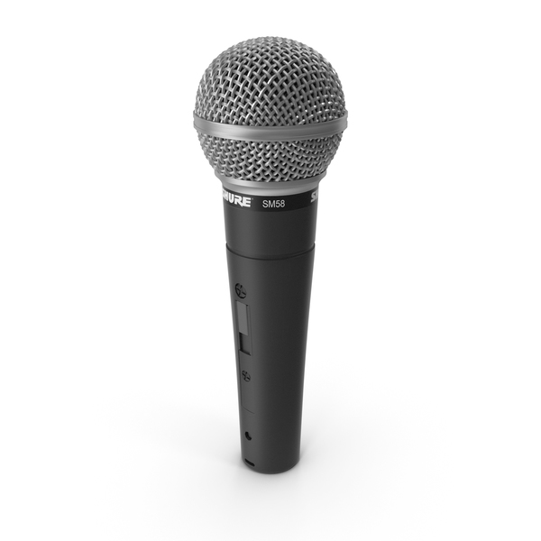 Shure SM58 Vocal Professional Microphone PNG & PSD Images
