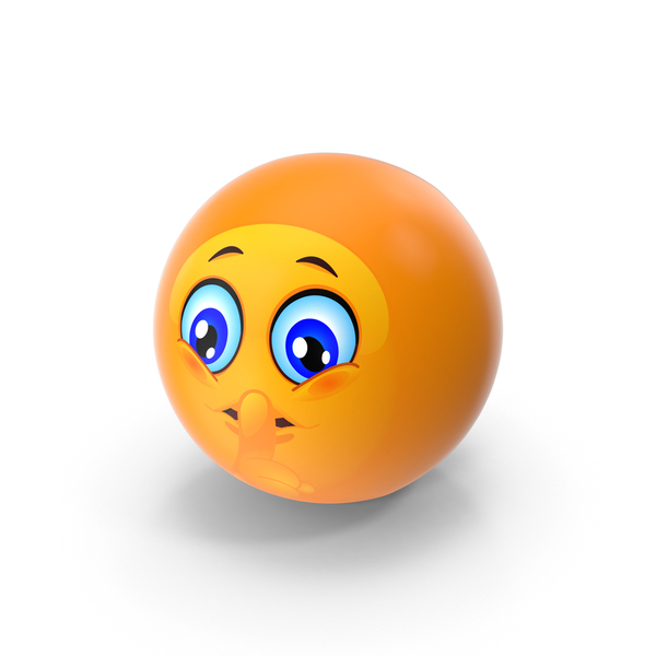 Shushing Emoji PNG & PSD Images