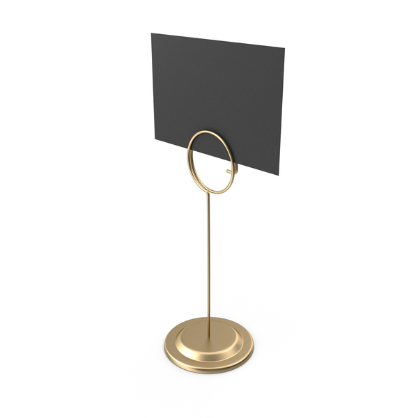 Sign Holder Tall Black Card PNG & PSD Images