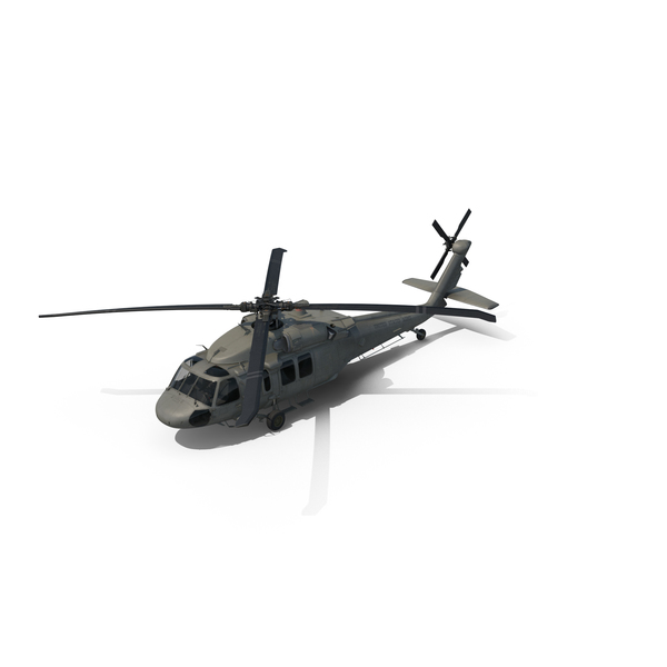 Sikorsky UH-60 Black Hawk Helicopter PNG & PSD Images