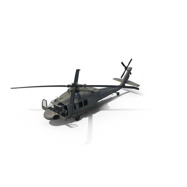 Sikorsky UH-60 Black Hawk US Helicopter PNG & PSD Images