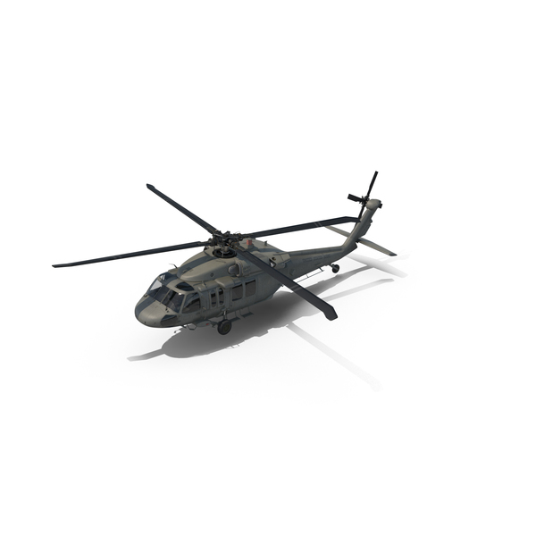 Sikorsky UH-60 Black Hawk US Military Utility Helicopter Object