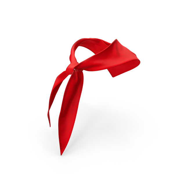 Scarf: Silk Red Pioneer Tie PNG & PSD Images