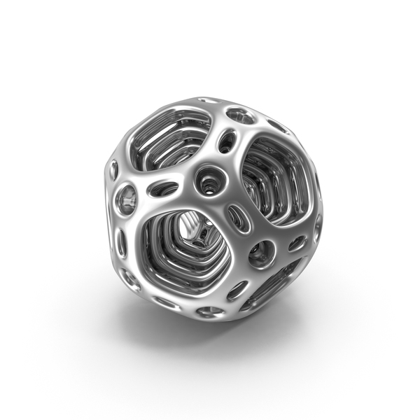 Silver Abstract Nested Dodecahedron PNG & PSD Images