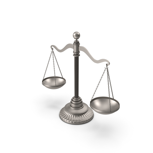 Silver Balance Scale PNG & PSD Images