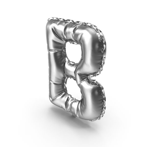Language: Silver Balloon Letter B PNG & PSD Images