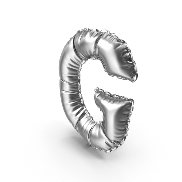 Silver Balloon Letter G PNG & PSD Images
