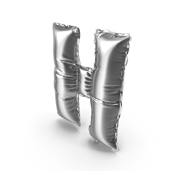 Silver Balloon Letter H PNG & PSD Images