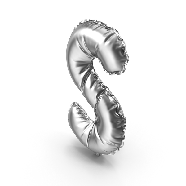 Language: Silver Balloon Letter S PNG & PSD Images