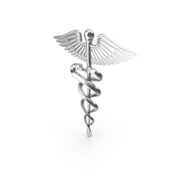 Silver Caduceus Symbol PNG & PSD Images